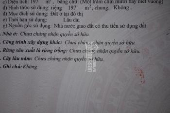 Tôi cần bán lô đất chính chủ phường Tân Thạnh Quảng Nam, LH 0334099079