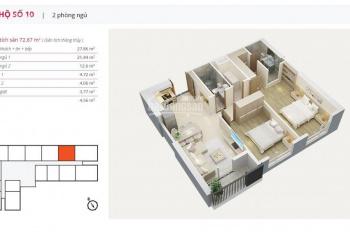 Cần bán gấp căn hộ 2PN hướng Tây Nam diện tích 73m2 tại dự án Mỹ Đình Pearl