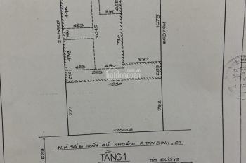 Bán nhà 387/2 Điện Biên Phủ, P11, Quận 10, cách bệnh viện Bình Dân (21x22m, CN 402m2), 140tr/m2