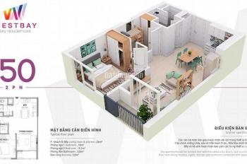 Cần cho thuê chung cư Ecopark, 55m2, 5 tr/th