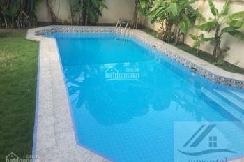 Cho thuê Villa Thảo Điền 400m2, 4PN, có hồ bơi nội thất cơ bản giá 106tr/th, để ở, làm văn phòng