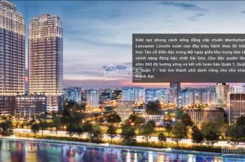 Bán gấp căn hộ Lancaster Lincoln 1PN giá rẻ 300tr. Tầng cao view sông Sài Gòn, bán đảo Thủ Thiêm