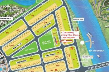 Bán lô đất cực đẹp đường 7m5 dự án Green City, view công viên, DT: 154m2, 7*22m, Đông Nam