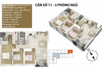 Bán cắt lỗ gấp căn hộ Mỹ Đình Pearl 3 ngủ diện tích 105m2, giá 3,36 tỷ