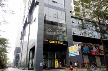 Cho thuê văn phòng tại Thanh Xuân, tòa Golden West dt 300m2-500m2
