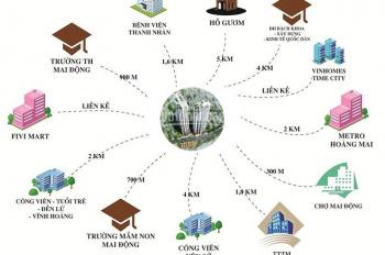 Bán chung cư 24tr/m2, 74m2 tòa nhà 536A Minh Khai sát Times City