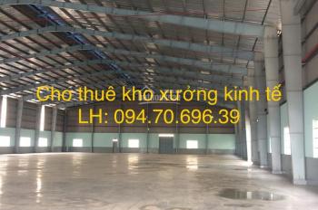 Cho thuê kho xưởng đường Kinh Dương Vương. Diện tích: 200m2 và 550m2, giá: 85 nghìn/m2