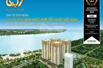 Căn hộ Q7 view sông SG, giá rẻ, thanh toán 15-30%, giá gốc CĐT, CK 3-18%. LH: 0917888658