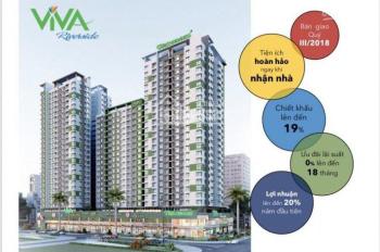 CĐT Viva Riverside 2PN 2.25 tỷ, 3PN 3.25 tỷ, shophouse 1.6 tỷ, CK 5%. LH CĐT: 0973 610 214 - TP