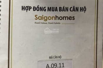 Chính chủ cần bán căn 2PN A. 9.11, A. 15.6 DA Saigonhomes, Bình Tân, giá 1.41 tỷ, LH: 0908366630
