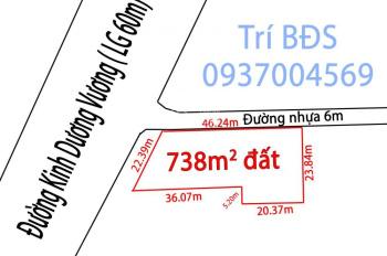 Trí BĐS, nhà đất 740m2, gốc 2 mặt tiền Kinh Dương Vương và Lâm Hoành, chính chủ bán 90 tỷ