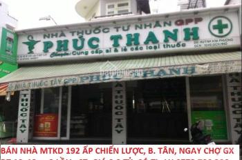 Bán nhà MT 192 Ấp Chiến Lược, Bình Tân, ngay chợ Gò Xoài, DT 10x12m, giá 9.2 tỷ. LH 0773796206