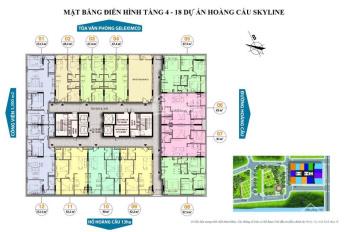 Bán căn hộ 3PN chung cư Hoàng Cầu Skyline, 137m2 nội thất cơ bản, giá chỉ từ 5.5 tỷ