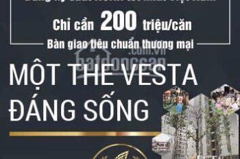 CH The Vesta giá bán chỉ từ 13.5 - 14.2tr/m2 (gồm VAT + nội thất cơ bản) LH: E Huyền 0944216196