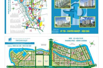 Bán một nền đất duy nhất tại dự án 13B Conic hướng Đông Nam giá rẻ. LH: 0909 342 356