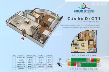 Bán căn 110.74m2 căn số 11 tòa CT1 3 phòng ngủ đẹp nhất Gelexia Riverside 885 Tam Trinh, 20.63 tỷ