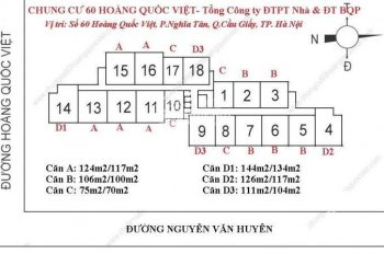Chuyển công tác bán gấp CHCC 60 Hoàng Quốc Việt, T1506 (101m2) 31tr/m2 BT. LH O974547377 Dương