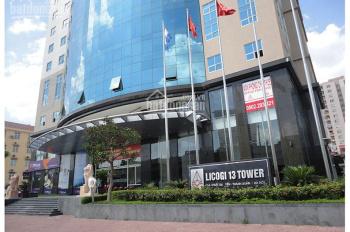 Chính chủ cho thuê văn phòng 135m2 toà Licogi 13, giá 12tr/tháng, LH 0906011368
