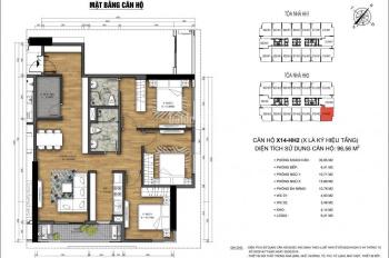 Bán suất ngoại giao chung cư 90 Nguyễn Tuân căn góc số 14 diện tích 96m2 tòa HH2 tầng 18