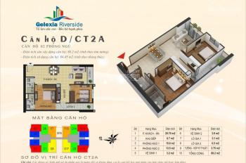 Bán suất ngoại giao vào tên HĐMB trực tiếp căn số 6, tầng 20-21 tòa CT2A 84.45m2 Gelexia Riverside