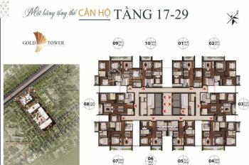 Căn hộ chung cư Hoàng Huy Gold Tower 275 Nguyễn trãi, Thanh Xuân - CK 11% - 0949067694