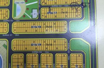 Cần bán 2 lô tại dự án Golden Bay ô D16-24-20 Và ô D16-15A-7 DT 216m2 giá thu 17 triệu/1m2