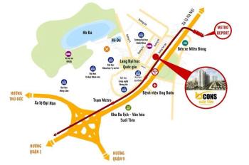 Bán căn hộ 1PN - 2PN tại dự án Bcons Suối Tiên view công viên tầng thấp 780tr - 790tr. 0933583853
