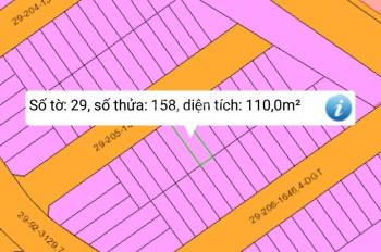 Bán đất thổ cư KDC khu phố Bình Dương (gần ngã tư Vũng Tàu) diện tích 110m2
