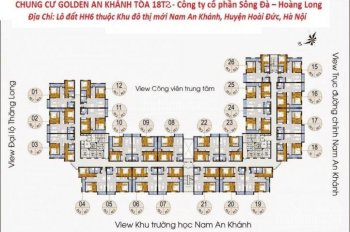 Chính chủ bán cắt lỗ chung cư Golden An Khánh, tầng 1212, DT 69m2, 2PN 2VS, giá 920tr LH 0985764006