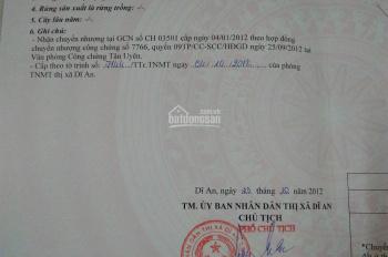 Bán đất KDC 2/9 Đông Hòa, Dĩ An, Bình Dương, DT: 76.2m2, giá 2.3 tỷ