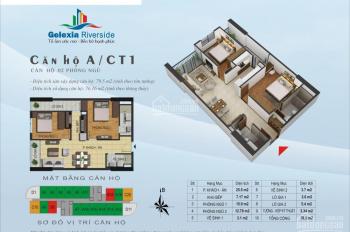 Bán suất ngoại giao 76.16m2, căn số 9 tòa CT1 tầng 16, 18 Gelexia Riverside, giá rẻ