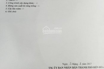 Bán 340m2 đất mặt tiền kinh doanh chợ Đồn đường Bùi Hữu Nghĩa, Bửu Hòa, Biên Hòa