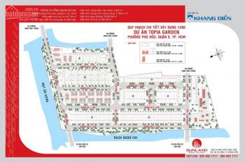 Đất nền dự án Topia, lô nhà phố Đông Nam, 114m, giá 29 tr/m2, LH 0919009038 Mr. Quang