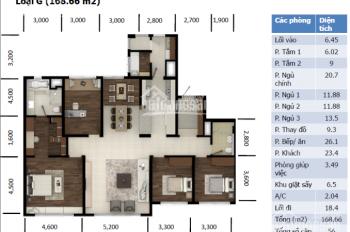 Tìm gia chủ mới cho căn hộ 168,66m2, 4 phòng ngủ tầng 27 Hyundai Hillstate nhà đẹp