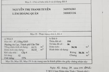 Bán nhà mặt tiền số 87 Đồng Khởi kế khách sạn Á Châu, An Lạc, Ninh Kiều, Cần Thơ