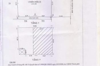 Nhà MT Kênh Tân Hóa, Q. Tân Phú 14x18m, có thể tách thành 3 căn, 24 tỷ, alo Linh: 098.995.2837