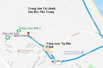 Ba lô liền kề, vuông vức, 142m2/lô, mặt tiền Nguyễn Thị Định, Nha Trang, phù hợp xây khách sạn