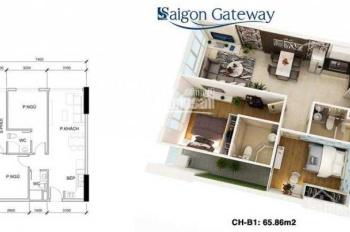 Cần bán Saigon Gateway 2PN 65.86m2, giá 1.928 tỷ. LH: 0908831108