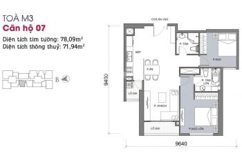 Bán căn 02 phòng ngủ tại Vinhomes Liễu Giai, giá 5.5 tỷ/79m2