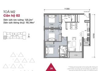 Chính chủ nhờ chuyển nhượng căn hộ 3 phòng ngủ Vinhomes Metropolis Liễu Giai view 3 hồ, 0946928689