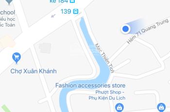 Cho thuê nhà trung tâm Ninh Kiều, hẻm 71 Quang Trung, gần chợ Xuân Khánh