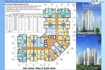 Chính chủ cần bán căn hộ chung cư nhà CT2B khu Quân Đội Thạch Bàn, Long Biên