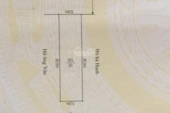 Bán lô đất 100m2 mặt đường 208 ngay gần nhà hàng Hương Đồng Nội. Ngang 5m sâu 20m