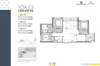 Chính chủ bán căn hộ C34104 D'Capitale giá chủ đầu tư tại Trung Hòa, Cầu Giấy, Hà Nội