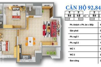 Bán căn góc chung cư cao cấp 12 View 92m2, đầy đủ nội thất
