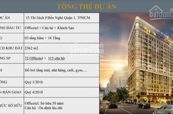 Bán gấp căn hộ, Officetel Madison Q1 bố trí 1 - 2 - 3 PN, giá tốt nhất thị trường, 0938167529