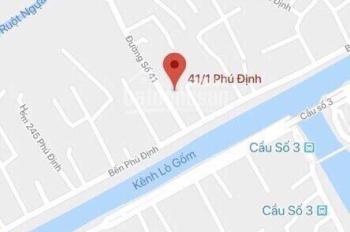 Bán đất đường Phú Định phường 16 quận 8. DT:  30m x 80m. Gía: 52 tỉ
