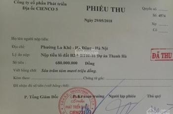 Bán đất biệt thự Thanh Hà, B2.5-BT01 ô 16, dt 200m2, giá 20tr/m2 - 0909354333