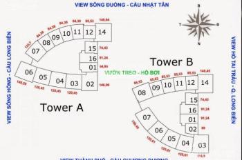 Chính chủ tôi cần bán căn 10 tầng 25 tháp A chung cư Mipec, Long Biên, giá 40tr/m2