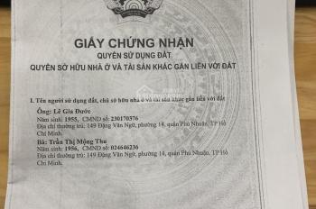 Bán nhà đầu năm 149 Đặng Văn Ngữ, p14, Phú Nhuận, 3,7*19m, hậu 5,6m, 2 lầu mới, giá 13,5 tỷ